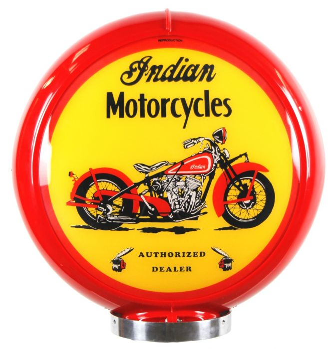 Benzinepomp bol Indian Motorcycles Red