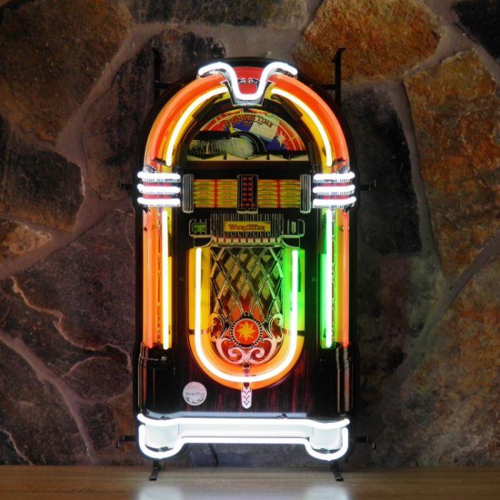 Jukebox neon met achterplaat