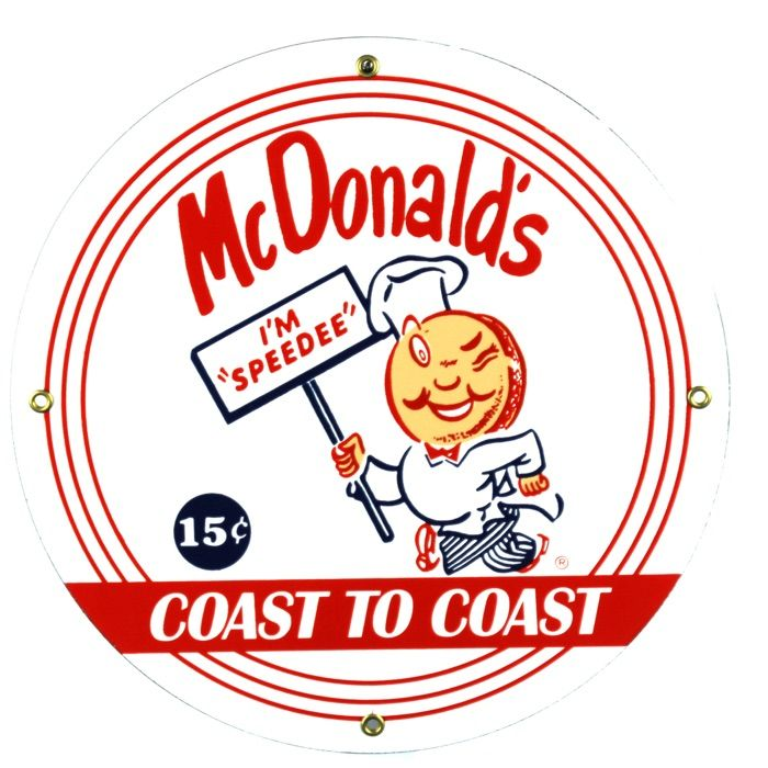 Emaille bord McDonalds