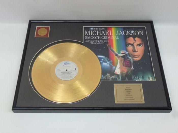 "Vergulde gouden plaat  - Michael Jackson ""Smooth Criminal"""