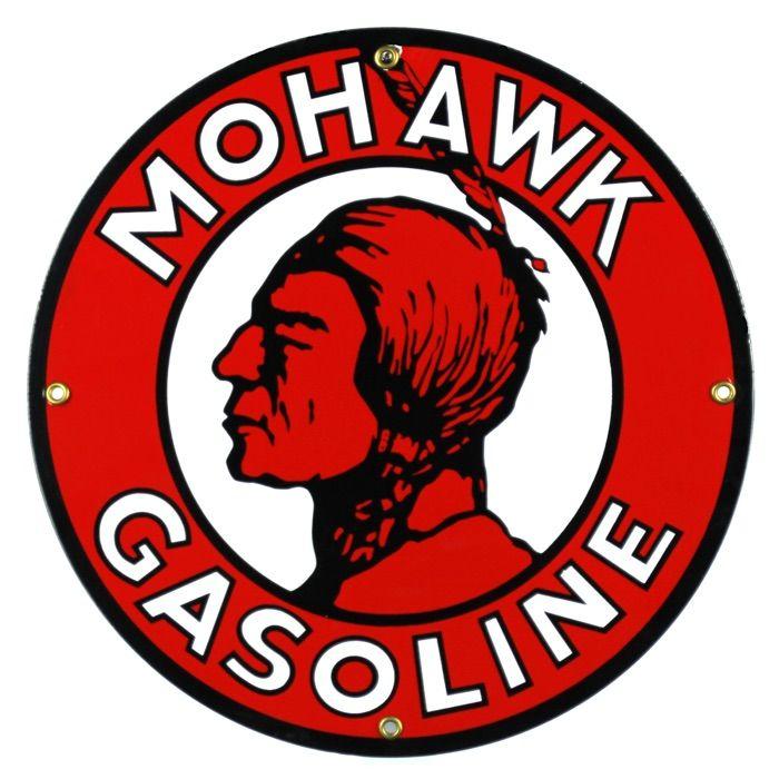 Emaille bord Mohawk Gasoline
