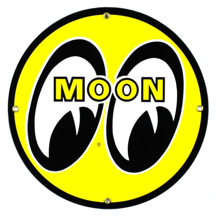 Emaille bord Moon
