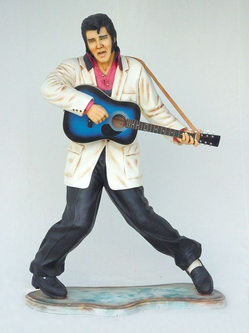 Statue Elvis with Guitar Lifesize