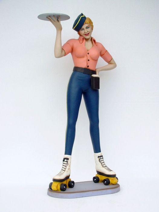 Statue Waitress Rollerskater
