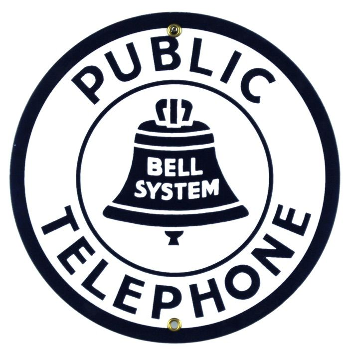 Emaille bord Public Telephone