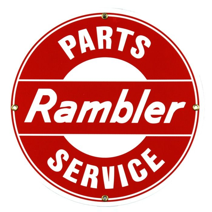 Emaille bord Rambler Parts Service