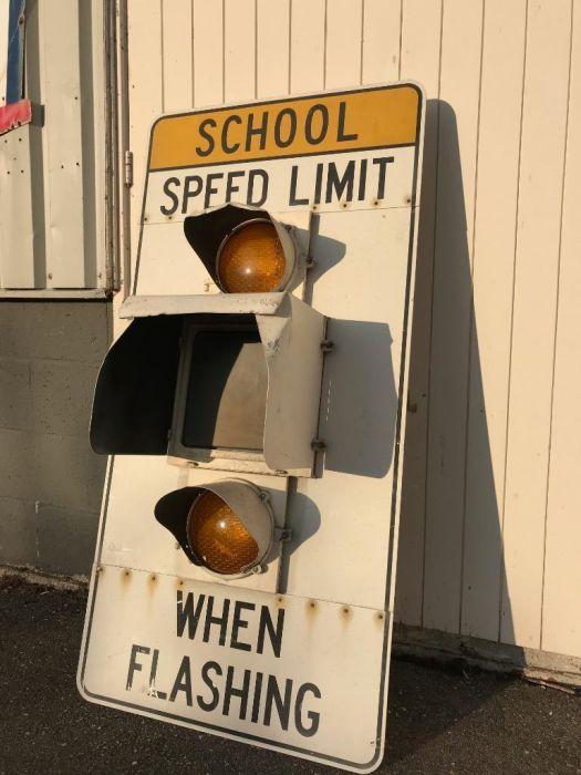 Amerikaans speed limit bord