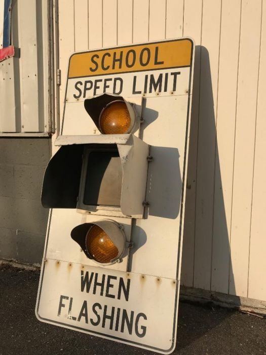 Origineel School Speed Limit bord