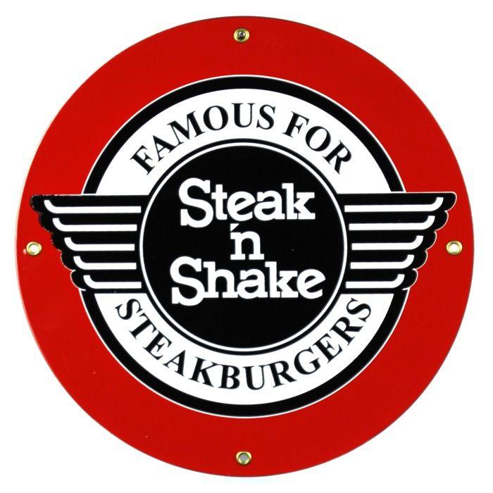 Emaille bord Steak 'n Shake