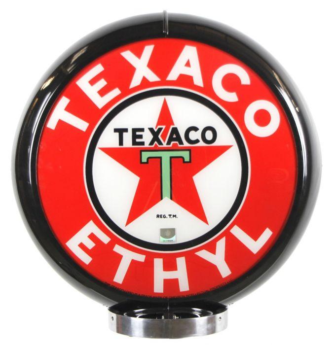 Benzinepomp bol Texaco Ethyl Black
