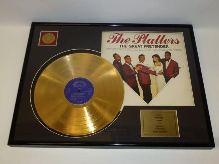 """Vergulde gouden plaat - The Platters """"The Great Pretender"""""""