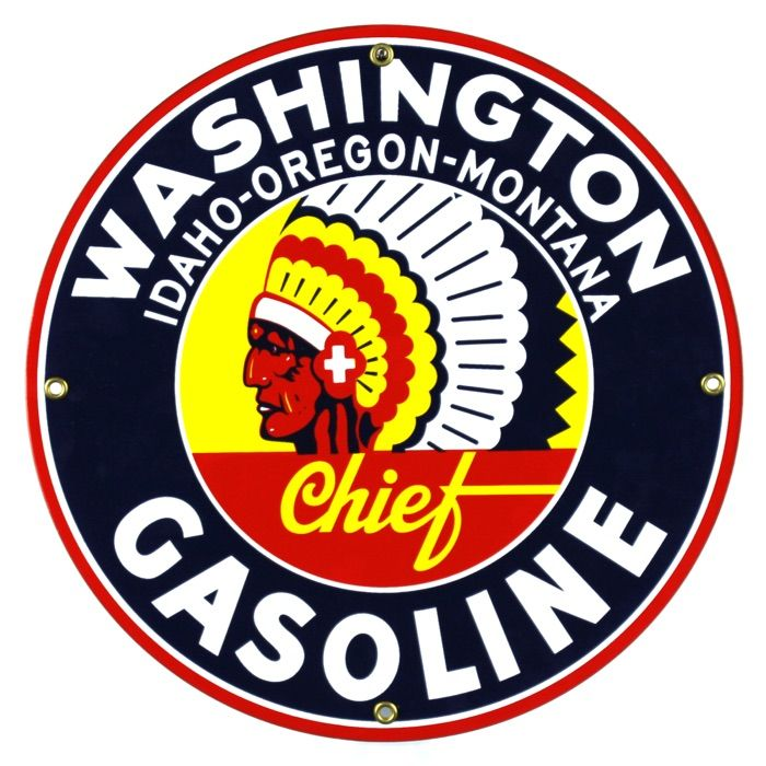 Emaille bord Washington Gasoline